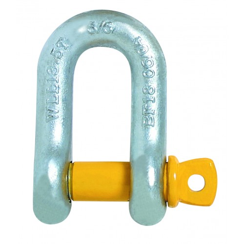 Dee Shackle Industrial Yellow Pin Grade S