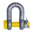 Safety Dee Shackle Industrial Yellow Pin Grade S